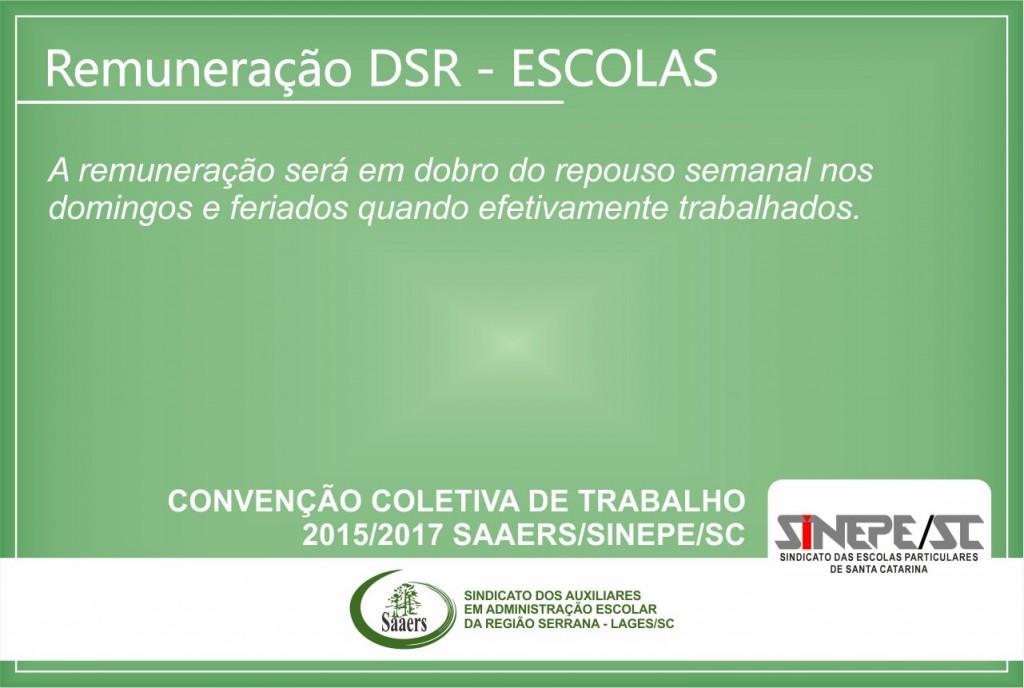 Remuneração DSR Escolas