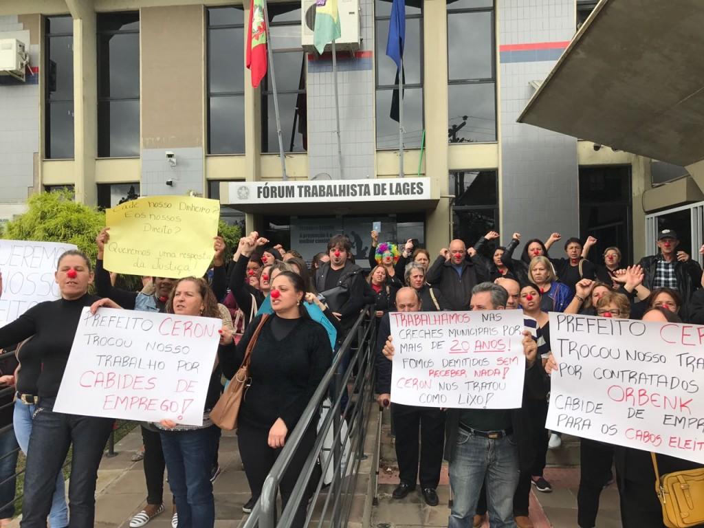 TRABALHADORES DOS CPPs PROTESTAM