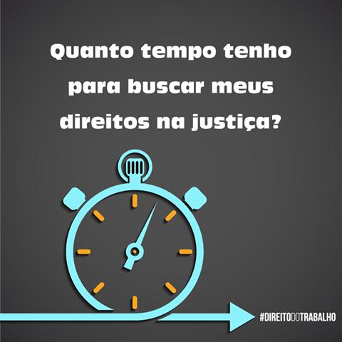 QUANTO TEMPO TENHO PARA BUSCAR MEUS DIREITOS NA JUSTIÇA