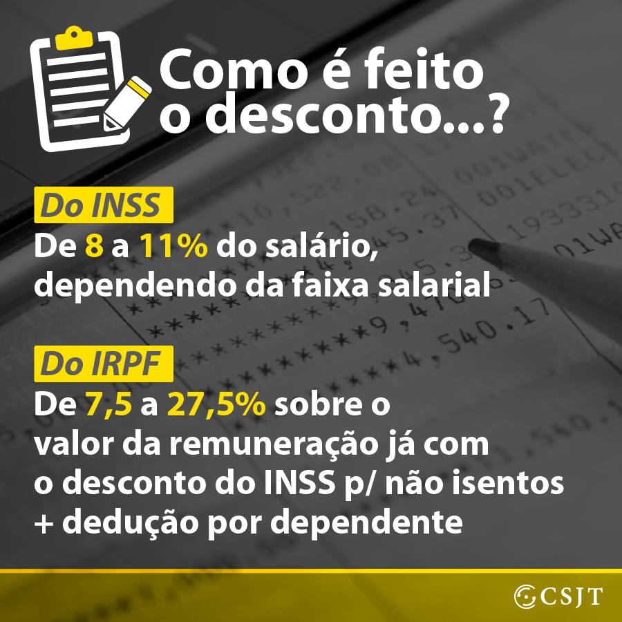 DESCONTO DE INSS E IRPF