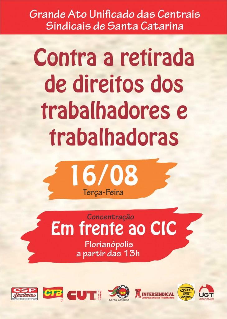 Grande Ato Unificado das Centrais Sindicais de Santa Catarina
