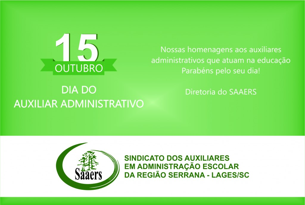 15 de Outubro Dia do Auxiliar Administrativo