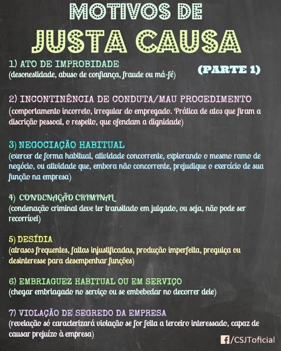 MOTIVOS DE JUSTA CAUSA – PARTE 1