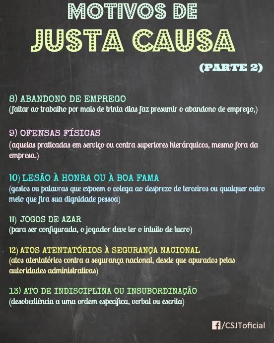 MOTIVOS DE JUSTA CAUSA – PARTE 2